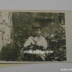 Postales: TARJETA POSTAL. FOTO DE NIÑO PEQUEÑO VESTIDO DE MARINERO. SIN CIRCULAR. CCTT. Lote 149932094