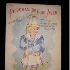 Postales: POSTAL PUBLICITARIA DE PILDORAS DEL DR. AYER. Lote 151710738