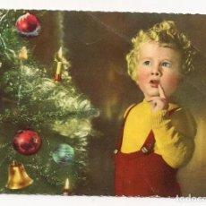 Postales: POSTAL ITALIANA - NIÑO CON ÁRBOL NAVIDAD - DDD3 1959/3 - ESCRITA SIN FRANQUEO - CON FECHA 13-1-1961. Lote 152836230