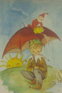 Pilar linares. Postal ilustrada. Durero