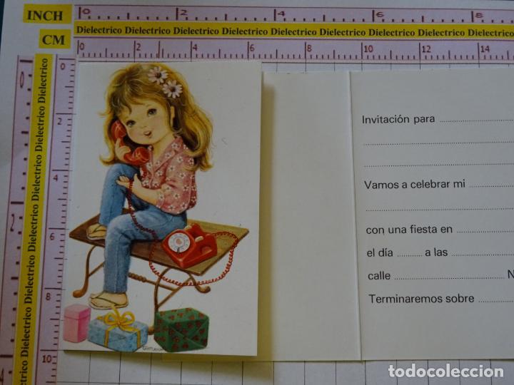 2 Tarjetas Infantiles Invitación A Cumpleaños Año 1984 Niña Teléfono 2173
