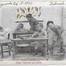 Postales: P-9201. POSTAL FOTOGRAFICA, DANS L' ABSCENCE DU MAITRE. 1903.. Lote 159030822