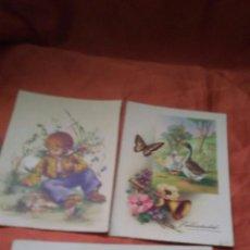 Postales: LOTE 3 POSTALES DE FELICITACION ,AÑOS 60 NUEVAS SIN USO. Lote 159450177