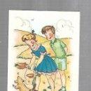 Postales: TARJETA POSTAL. NIÑOS JUGANDO EN EL CAMPO CON PERRITO. Lote 165187314