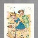 Postales: TARJETA POSTAL. NIÑOS JUGANDO EN EL CAMPO CON PERRITO. Lote 165187350