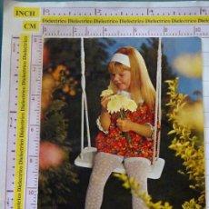 Cartes Postales: POSTAL INFANTIL DE NIÑOS. AÑO 1973. NIÑA COLUMPIO FLORES. 2435. Lote 168126992