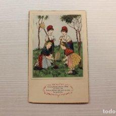 Postales: POSTAL POEMES I CANÇONS L'ARBRE FRUITER. FROM CATALONIA HAPPINESS CHRISTMAS, ED.SIRENITA/ARTIGAS1949. Lote 168814252