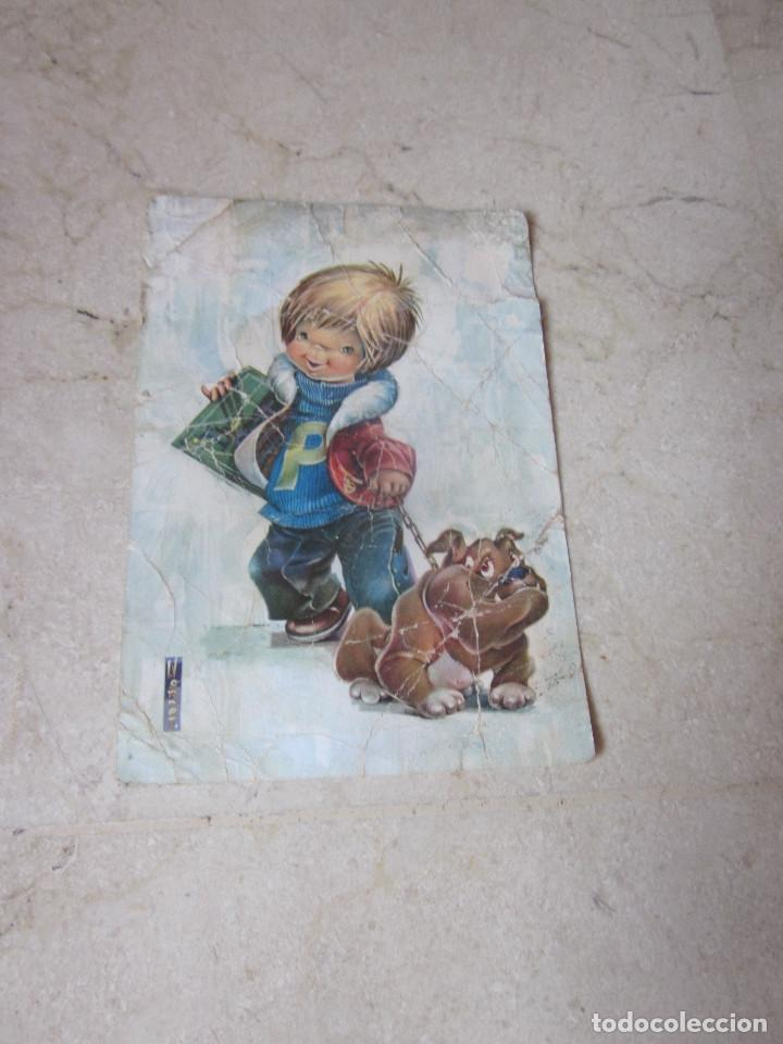 POSTAL ESCRITA AÑOS 60 NIÑO CON PERRO (Postales - Postales Temáticas - Niños)
