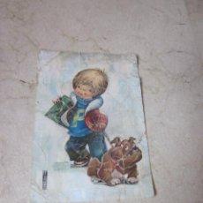 Postales: POSTAL ESCRITA AÑOS 60 NIÑO CON PERRO. Lote 168878780