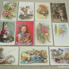 Postales: LOTE 11 POSTALES DE NIÑOS Y FELICITACIONES, AÑOS 50 Y 60, ESCRITAS A LA MISMA PERSONA. Lote 169575172