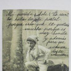 Postales: POSTAL, NIÑO PENSATIVO EN EL GRANERO, CIRCULADA SELLO, AÑOS 20. Lote 170825715