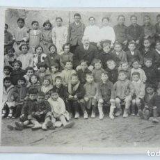 Postales: FOTOGRAFIA DE NIÑOS DE LA ESCUELA DE VILLAVERDE, MADRID, JUNIO DE 1927, TAMAÑO POSTAL.. Lote 171003625