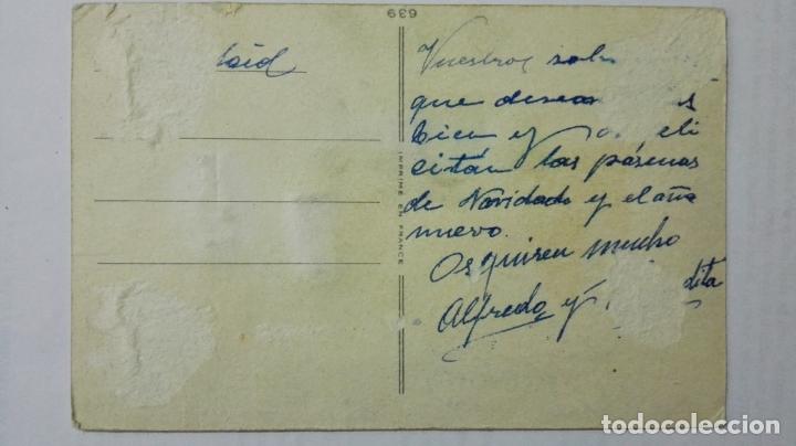 Postales: POSTAL INVERNAL TROQUELADA, PORTAL DE BELEN, ESCRITA, AÑOS 40 - Foto 2 - 171526384