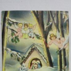 Postales: POSTAL INVERNAL TROQUELADA, PORTAL DE BELEN, ESCRITA, AÑOS 40. Lote 171526608