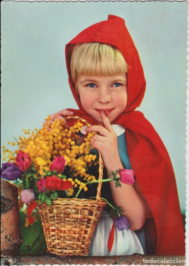 POSTAL ROMÁNTICA AÑOS 60 - EDIZIONI SAEMEC S/543 - ESCRITA (Postales - Postales Temáticas - Niños)