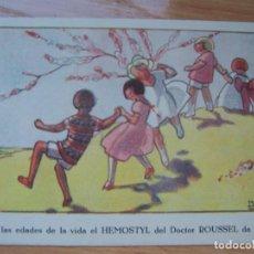 Postales: POSTAL HEMOSTYL DEL DOCTOR ROUSSEL. ILUSTRUCION DE MAGGIE SALZEDO, ART DECO. Lote 171830365