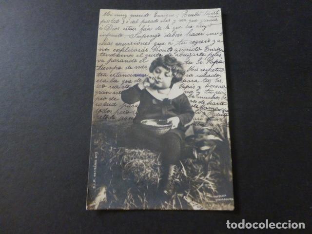 NIÑO COMIENDO POSTAL (Postales - Postales Temáticas - Niños)