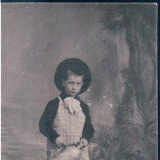 Postales: POSTAL NIÑO JARDINERO CON REGADERA - UNE DECEPTION - C BB V B. Lote 172759902