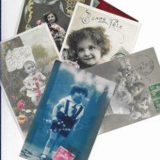 Postales: 47 POSTALES FOTO * NIÑOS * PRINCIPIOS SIGLO PASADO. Lote 173988235