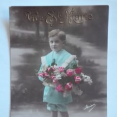 Postales: ANTIGUA FOTO POSTAL ESCRITA Y CIRCULADA CON SELLO 1913. Lote 174308877