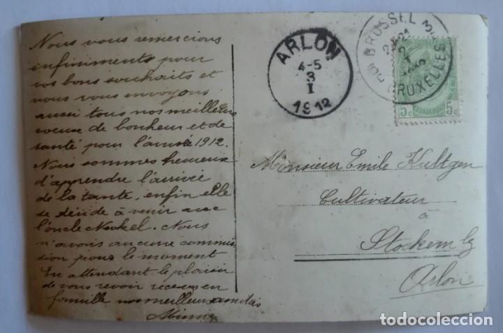 Postales: ANTIGUA FOTO POSTAL ESCRITA Y CIRCULADA CON SELLO 1912 - Foto 2 - 174309155