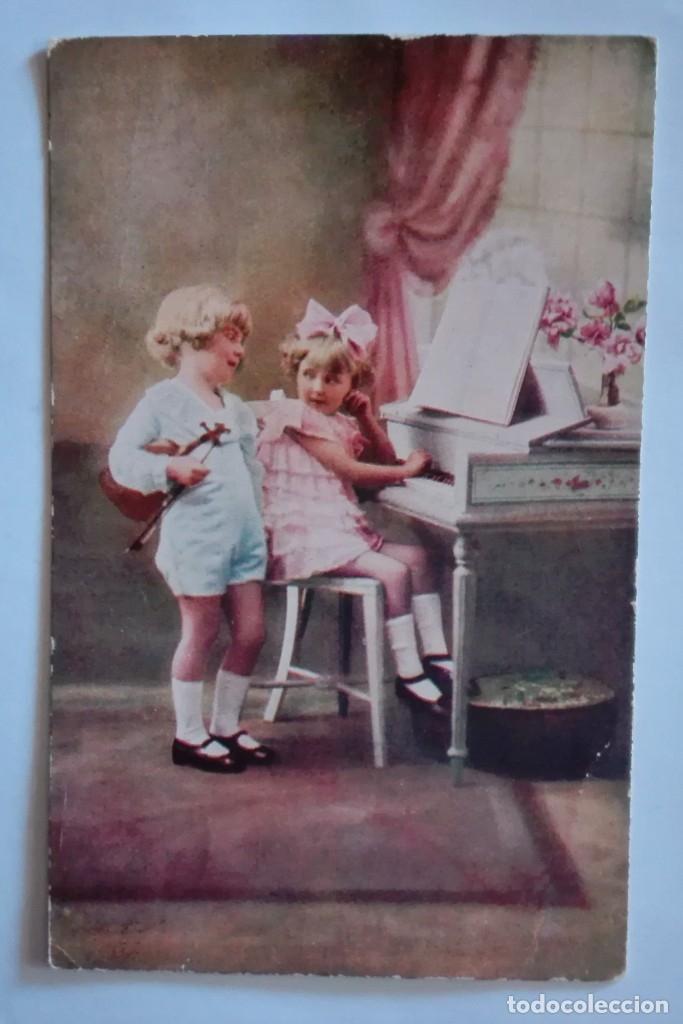 ANTIGUA FOTO POSTAL, ESCRITA Y CIRCULADA CON SELLO 1929 (Postales - Postales Temáticas - Niños)