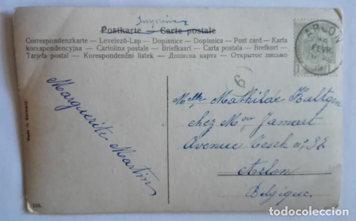 Postales: ANTIGUA FOTO POSTAL COLOREADA CIRCULADA CON SELLO EN 1909 - Foto 2 - 174309665