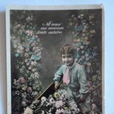 Postales: ANTIGUA FOTO POSTAL COLOREADA, ESCRITA Y CIRCULADA, CON SELLO 1910. Lote 174309739