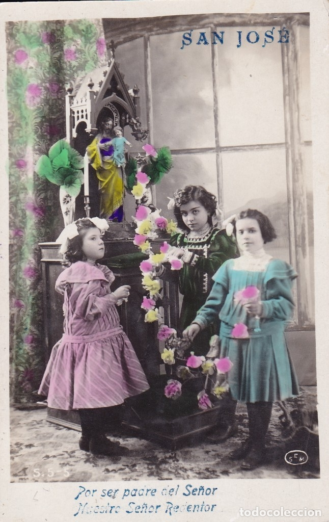 NIÑAS POSTAL SAN JOSÉ 1920 (Postales - Postales Temáticas - Niños)