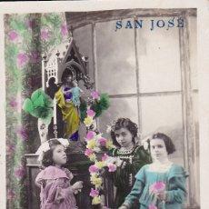 Postales: NIÑAS POSTAL SAN JOSÉ 1920 . Lote 175528485