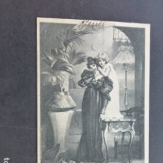 Postales: MADRE E HIJA POSTAL ILUSTRADA. Lote 175621398