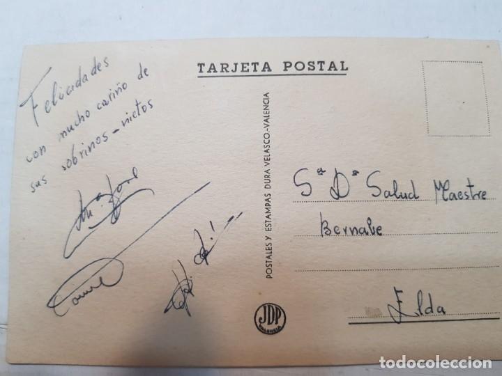 Postales: Postal antigua de Niños con Bordado a mano - Foto 2 - 175883654