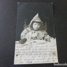 Postales: NIÑO FRAILE COMIENDO POSTAL. Lote 175963695