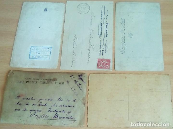 Postales: Lote de 5 postales y fotos antiguas tema niños - Foto 2 - 176108930