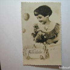 Postales: POSTAL NIÑOS FELICIDADES A MI EDICIONES BARCO? 11/3 DENTADA NUEVA SIN CIRCULAR.. Lote 176508214