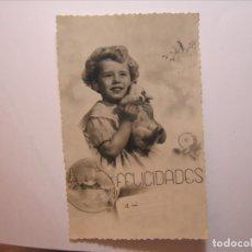 Postales: POSTAL NIÑOS FELICIDADES A MI EDICIONES BARCO? 12/1 DENTADA NUEVA SIN CIRCULAR.. Lote 176508408