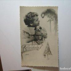 Postales: POSTAL NIÑOS FELICIDADES A MI EDICIONES BARCO? 12/4 DENTADA NUEVA SIN CIRCULAR.. Lote 176508458