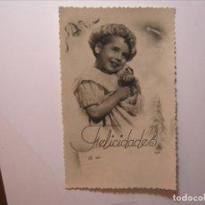 Postales: POSTAL NIÑOS FELICIDADES A MI EDICIONES BARCO? 12/5 DENTADA NUEVA SIN CIRCULAR.. Lote 176508610