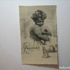 Postales: POSTAL NIÑOS FELICIDADES A MI EDICIONES BARCO? 12/2 DENTADA NUEVA SIN CIRCULAR.. Lote 176508662