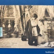 Postales: ANTIGUA POSTAL SERIE C NIÑO LA TOILETTE DE LUISIN N 8 E GONZALEZ HAUSER Y MENET SIN DIVIDIR 1903. Lote 176538380