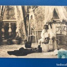 Postales: ANTIGUA POSTAL SERIE C LA TOILETTE DE LUISIN N 7 E GONZALEZ HAUSER Y MENET SIN DIVIDIR 1903. Lote 176538464