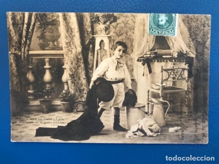 ANTIGUA POSTAL SERIE C LA TOILETTE DE LUISIN N 6 E GONZALEZ HAUSER Y MENET SIN DIVIDIR 1903 (Postales - Postales Temáticas - Niños)