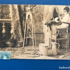 Postales: ANTIGUA POSTAL SERIE C LA TOILETTE DE LUISIN N 5 E GONZALEZ HAUSER Y MENET SIN DIVIDIR 1903. Lote 176538964