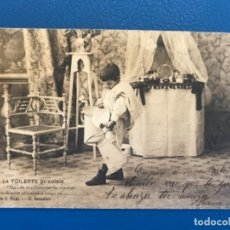 Postales: ANTIGUA POSTAL SERIE C LA TOILETTE DE LUISIN N 1 E GONZALEZ HAUSER Y MENET SIN DIVIDIR 1903. Lote 176539948