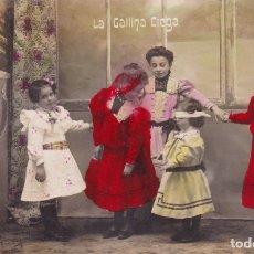 Postales: LA GALLINA CIEGA NIÑAS JUGANDO ESCRITA PRINCIPIOS SIGLO XX . Lote 176684353