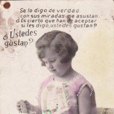Postales: NIÑA TOMANDO LECHE CON GALLETAS POSTAL SIN CIRCULAR. Lote 177046185