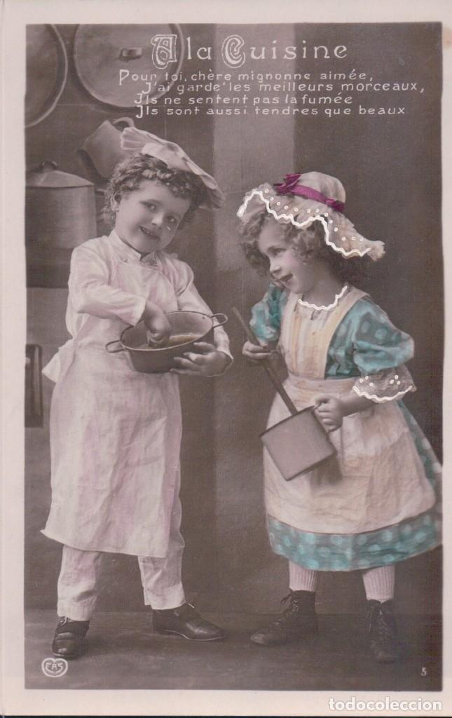 POSTAL PAREJAS NIÑOS - A LA CUISINE - EAS - COCINERO 1464 (Postales - Postales Temáticas - Niños)