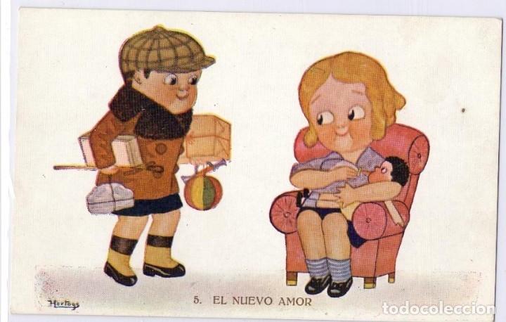 Postales: PRECIOSO LOTE DE 25 ANTIGUAS POSTALES DE NIÑOS. FOTOGRÁFICAS Y DIBUJOS. BUEN ESTADO. - Foto 7 - 178005158