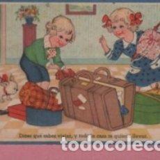 Postales: POSTAL DE UNOS NIÑOS PREPARANDO UN VIAJE DE EDC. COLON SERIE 103-8. Lote 178873263