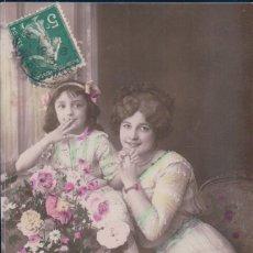 Postales: POSTAL NIÑA CON MADRE - CIRCULADA - 702 ALBA. Lote 178899521